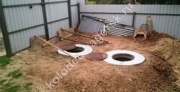 Автономная канализация для дачи на основе септиков из бетонных колец под ключ