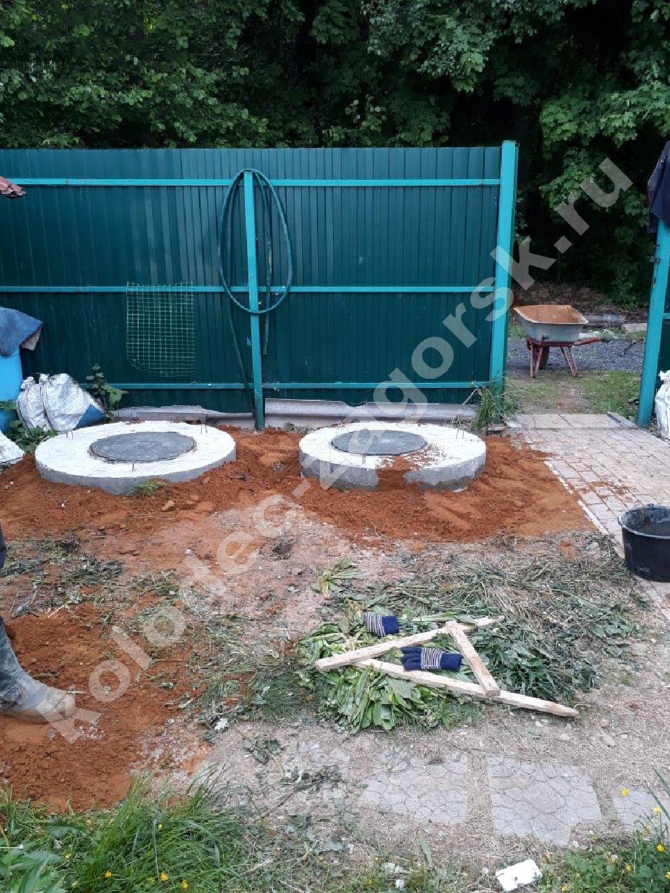 Септики из бетонных колец в Дмитрове