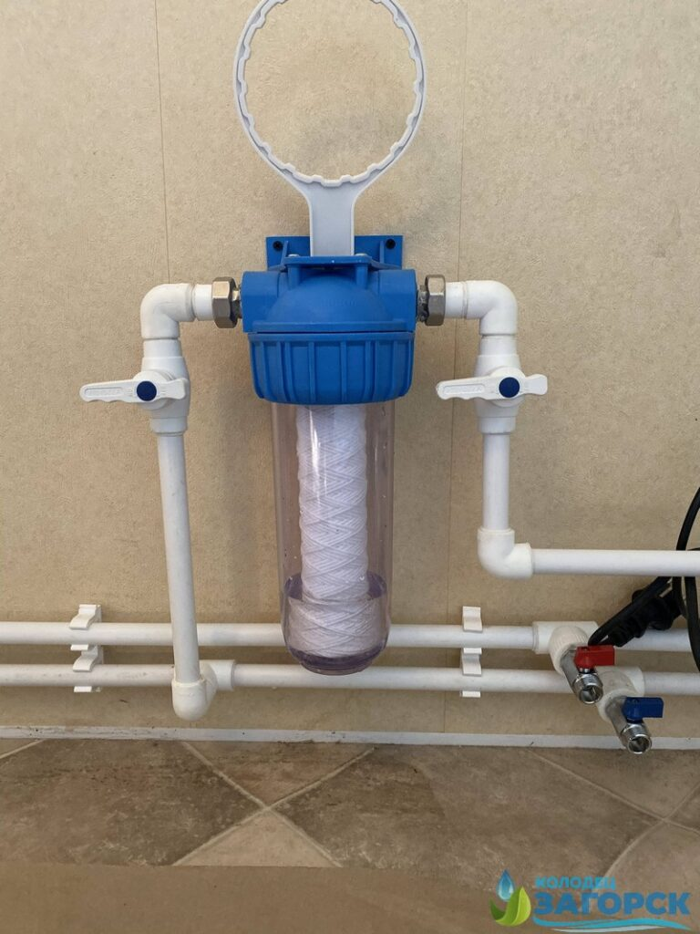 фильтр тонкой очистки - водопровод из колодца