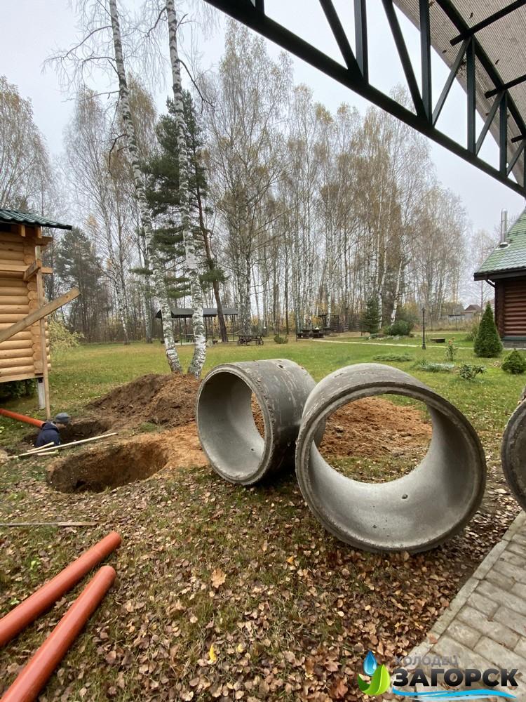 Земляные работы - копка траншеи под септик