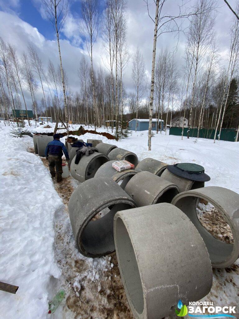 септик из бетонных колец Пушкинский район